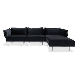3-Seat sofa with chaise - dark grey | Divani | HANDVÄRK