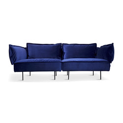 2-Seat Sofa - royal blue | Divani lounge | HANDVÄRK