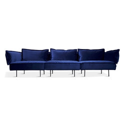 3-Seat Sofa - royal blue | Sofás lounge | HANDVÄRK