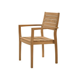 Horizon | Armchair with Teak Seat | Garden chairs | Barlow Tyrie