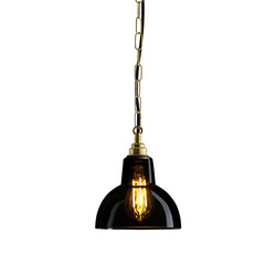 Glass York Pendant, Size 1, Anthracite and Brass | Iluminación general | Original BTC