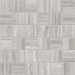 Marstood | Marble 02 | Silver Travertine Mosaic matt | Mosaïques céramique | TERRATINTA GROUP