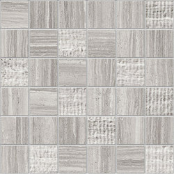 Marstood | Marble 02 | Silver Travertine Mosaic Mix | Mosaïques | Ceramica Magica