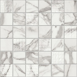 Marstood | Marble 01 | Statuario Mosaic Mix | Ceramic mosaics | TERRATINTA GROUP