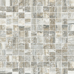 Mosaico 144 Travertino Grey JW 07 | Keramik Fliesen | Mirage
