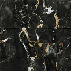 Mosaico 3D Black Gold JW 11 | Keramik Fliesen | Mirage