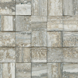 Mosaico 3D Travertino Grey JW 07 | Keramik Fliesen | Mirage