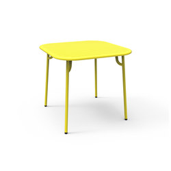 Week end table carr e dining tables by petite friture - Petite table basse carree ...