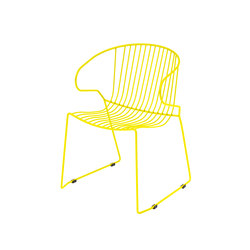 Bolonia chaise | Citric yellow | Chaises polyvalentes | iSimar