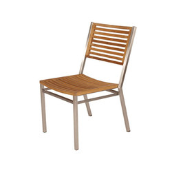 Equinox | Dining Chair with Teak Seat & Back | Gartenstühle | Barlow Tyrie