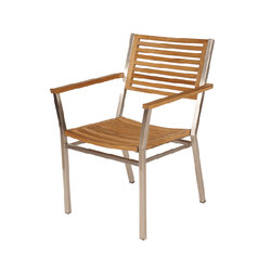 Equinox | Dining Armchair with Teak Seat & Back | Sillas | Barlow Tyrie