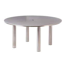 Equinox | Dining Table 150 Circular + Ceramic Top | Tables à manger de jardin | Barlow Tyrie