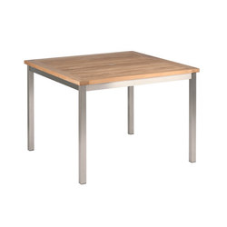 Equinox | Dining Table 100 Square with Teak Top | Dining tables | Barlow Tyrie