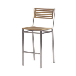 Equinox | High Dining Chair with Teak Seat & Back | Taburetes de bar de jardín | Barlow Tyrie