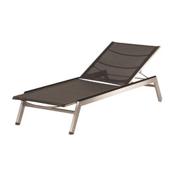 Equinox | Sun Lounger with Side Rail Capping +Sling Choice | Méridiennes de jardin | Barlow Tyrie