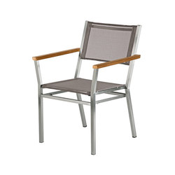 Equinox | Dining Armchair with Teak Armrests | Garden chairs | Barlow Tyrie