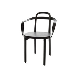 Siro+ | Chair with Armrests | black | Chaises | Woodnotes