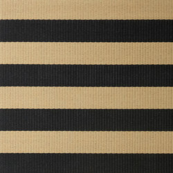 Big Stripe paper yarn carpet | black-natural | Formatteppiche / Designerteppiche | Woodnotes