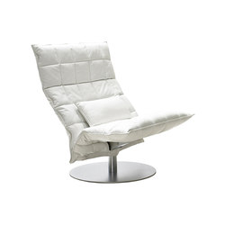 k Chair | wide | Swivel | Leather | Sessel | Woodnotes