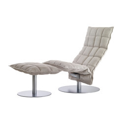 k chair | narrow | with k Ottoman | Fauteuils | Woodnotes