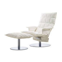 k chair | with Armrests | with k Ottoman | Sessel | Woodnotes