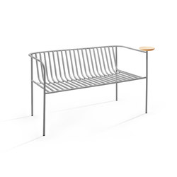 Whitsunday double grey | Garden benches | Les Basic