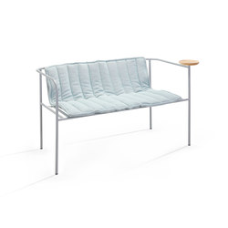 Whitsunday cushion, double grey | Garden benches | Les Basic