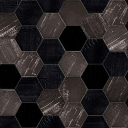 Ruche Noir | Ceramic tiles | Mirage