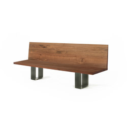 Newton Bench Schienale | Upholstered benches | Riva 1920