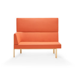 Homework chaise (left), highback (straight) | Modular seating elements | Les Basic