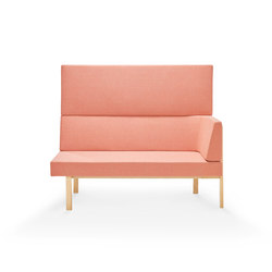 Homework chaise (right), highback (straight) | Modular seating elements | Les Basic