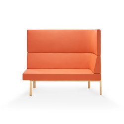Homework chaise (right), highback (right) | Modular seating elements | Les Basic