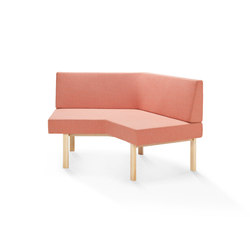 Homework angled sofa (outside) | Modular seating elements | Les Basic