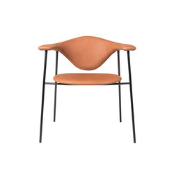 Masculo Chair – 4-legged metal version | Visitors chairs / Side chairs | GUBI