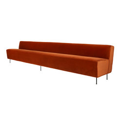 Modern Line Sofa - Dining Height | Restaurant seating systems | GUBI