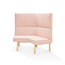 Homework angled sofa (outside), highback | Modular seating elements | Les Basic