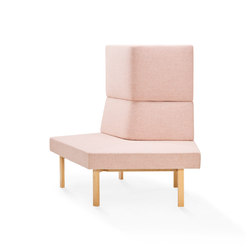 Homework angled sofa (inside), highback | Modular seating elements | Les Basic