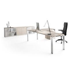 Concepto Free | Cromo | Roble Estela | Individual desks | Ofifran