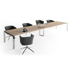 Concepto Free | Chromo | Siena Nogal | Multimedia conference tables | Ofifran