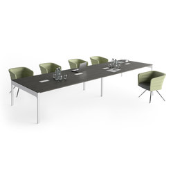 Lance | Blanco | Roble Azabache | Contract tables | Ofifran