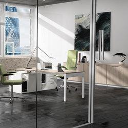 Lance | Blanco | Roble Estela | Individual desks | Ofifran