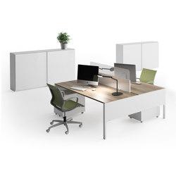 Lance | Blanco | Roble Estela | Desking systems | Ofifran