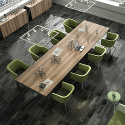 Lance | Antracita | Siena Nogal | Contract tables | Ofifran