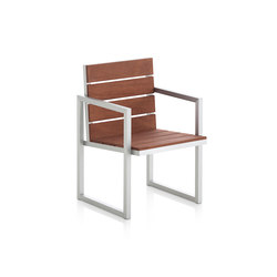 Saler Soft Teak High Chair | Garden chairs | GANDIABLASCO