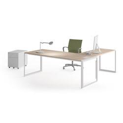 Meta | Blanco | Roble Estela | Desks | Ofifran