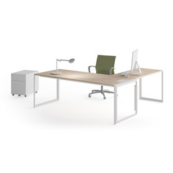 Meta | Blanco | Roble Estela | Individual desks | Ofifran