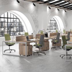 Meta | Blanco | Siena Nogal | Desking systems | Ofifran