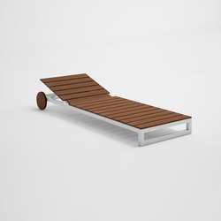 Saler Soft Teak Chaiselongue | Sun loungers | GANDIABLASCO