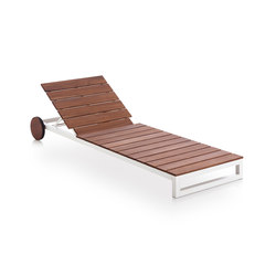 Saler Soft Teak Chaise Longue | Méridiennes de jardin | GANDIABLASCO
