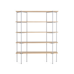 Troika medium, 5-level | Office shelving systems | Les Basic